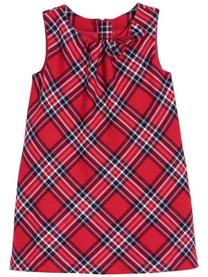 Платье красное в клетку | 4311860