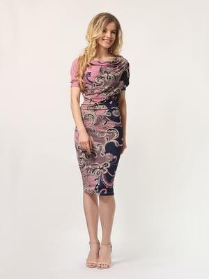 Платье сине-розовое | 4311920