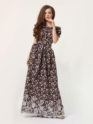 Платье в цветочный принт | 4311922