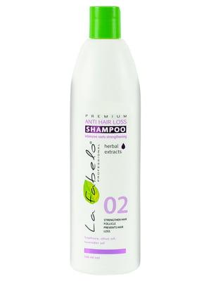 Шампунь Premium 02 Anti Hair Loss против выпадения волос (500 мл) | 4307340