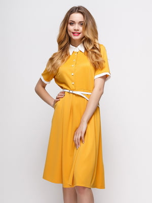 Платье желтое | 4166829