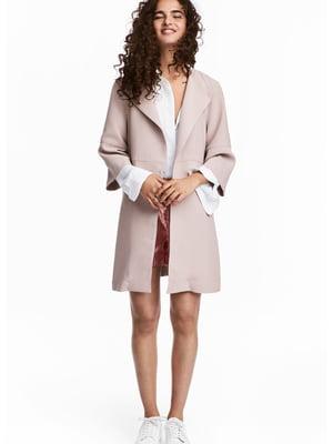 Пальто светло-розовое | 4286953