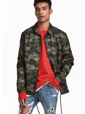 Куртка в камуфляжний принт   4286954