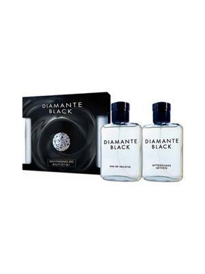 Парфюмированный набор для мужчин Diamante Black: туалетная вода (90 мл) и лосьон после бритья (90 мл) | 4308074
