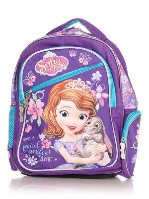 Рюкзак бузковий у принт шкільний | 4284757
