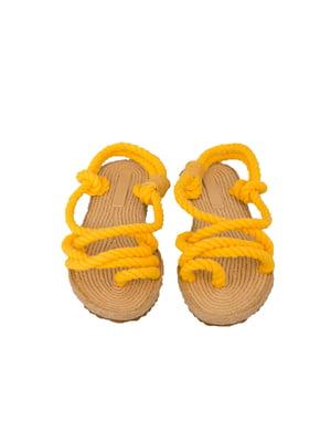 Сандалии-вьетнамки желтые | 4323035