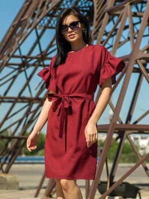 Сукня бордова | 4323425