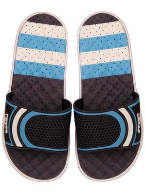 Шлепанцы черно-синие | 4323653
