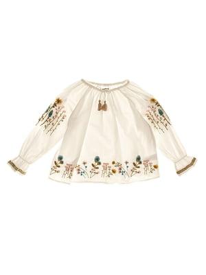 Блуза белая с вышивкой | 4314080