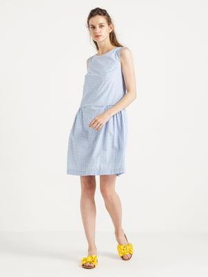 Платье синее в клетку | 4324050
