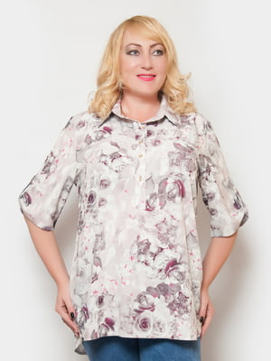 Блуза в цветочный принт | 4324362