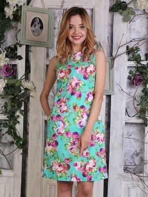 Платье цвета мяты в цветочный принт | 4266992