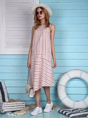 Платье розовое в полоску | 4311699