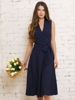 Платье темно-синее | 4266985