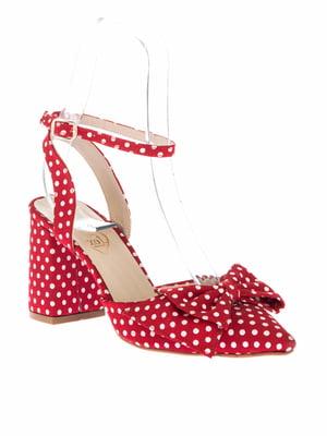 Туфли красные в горох | 4325510