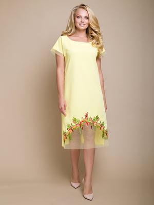 Платье желтое   4327739