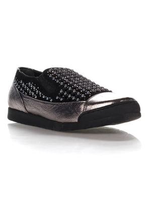 Туфли стального цвета   4283896