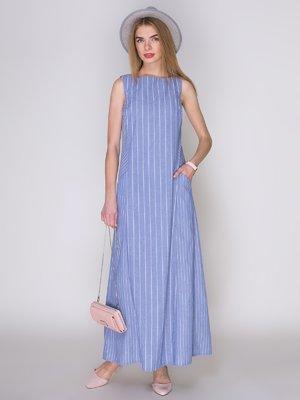 Платье голубое в полоску | 4323503