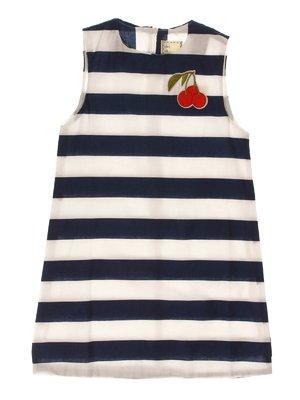 Сукня біло-синя в смужку   4328518