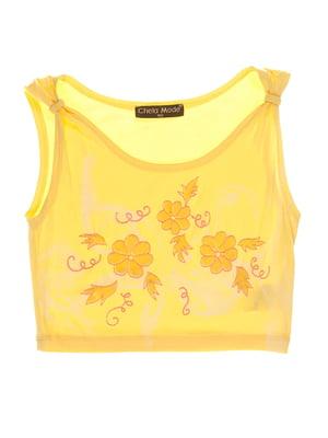 Топ жовтий з принтом | 3168528