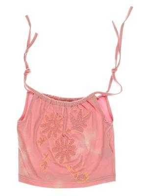 Топ рожевий з принтом | 3168550