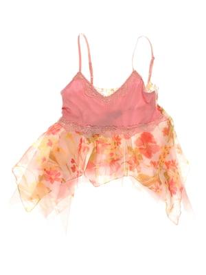 Топ рожевий з принтом | 3168411