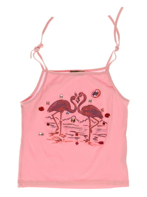 Топ рожевий з принтом | 3168410