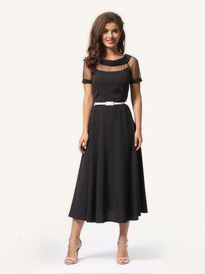 Платье черное в мелкий горошек | 4341443