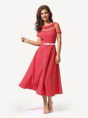 Сукня червона в горошок | 4341453