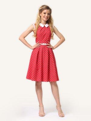 Сукня червона в дрібний горошок | 4341681