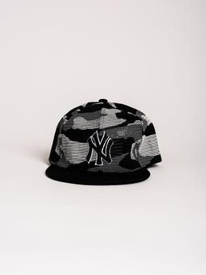 Бейсболка чорна в принт   4298653