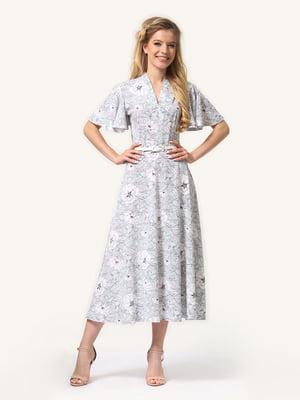 Платье в растительный принт | 4343512