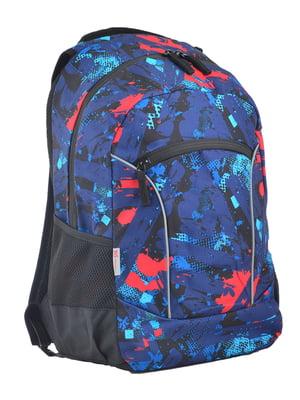 Рюкзак синій в принт | 4341706
