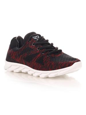Кроссовки черно-красные | 4341139