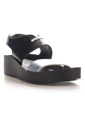 Босоножки черно-серебристые | 4340185