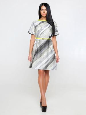 Платье серое в полоску | 4346169