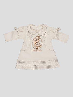 Сукня молочного кольору з малюнком | 3514945