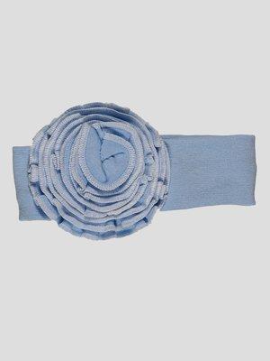 Повязка на голову голубая | 4350087