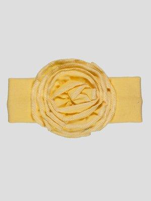 Повязка на голову желтая | 4350085
