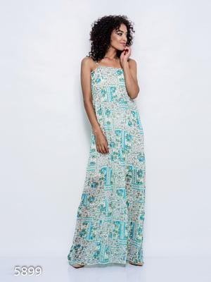 Платье бирюзовое | 4352368