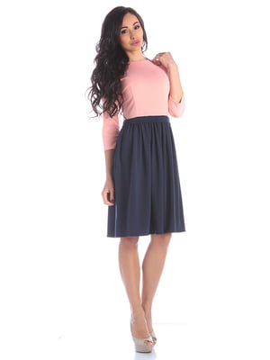 Платье персиково-синее | 4352813