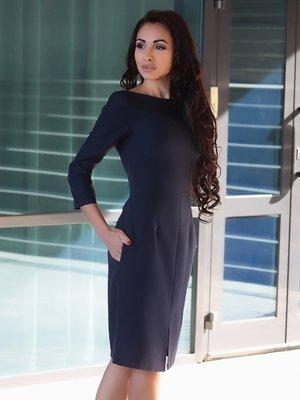 Платье темно-синее | 4355231