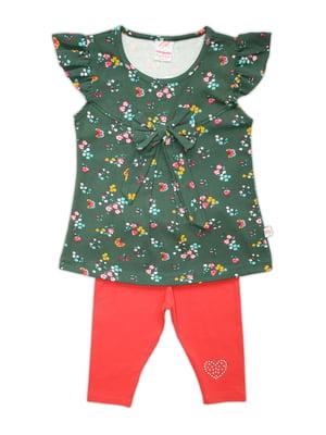 Комплект: блуза и леггинсы | 4336489