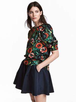 Блуза в цветочный принт | 4338729