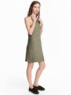 Платье цвета хаки | 4339050