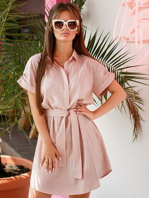 Платье-рубашка розовое | 4363947