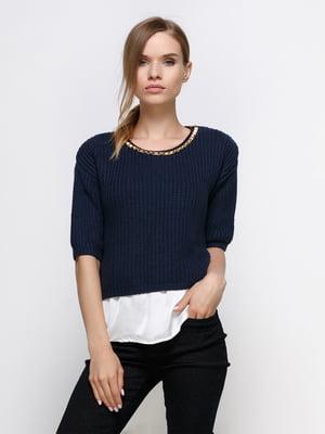 Блуза темно-синя | 4342797