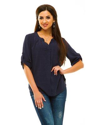 Блуза темно-синяя | 3178181