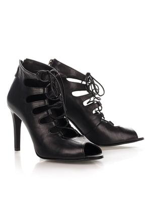 Туфли из натуральной кожи черного цвета   4189844