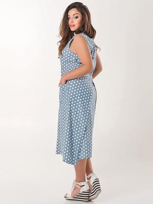 Сукня блакитна в горох | 4345349